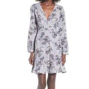 ASTR Purple floral Mini Dress